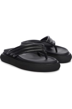 The Attico Alton leather thong sandals