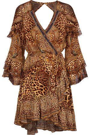 Camilla Embellished silk minidress