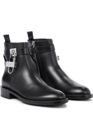 Givenchy Leather ankle boots with padlock