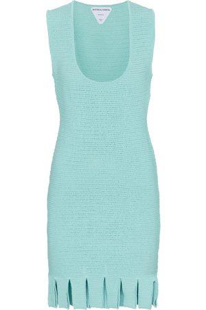 Bottega Veneta Cotton-blend mesh knit minidress