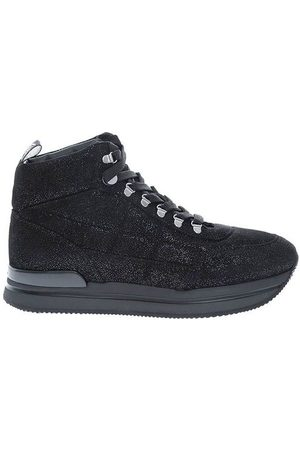 Hogan 222 High boots in leather with sequins
