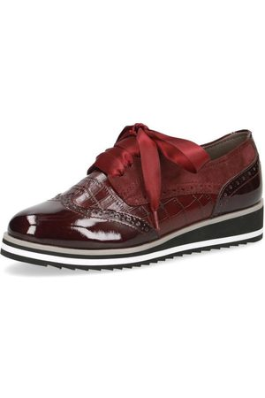 Caprice Casual Closed Wedges Bordeaux