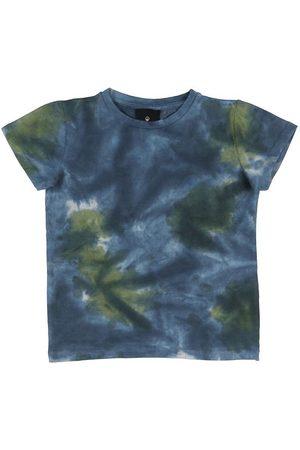 The New Kortærmede - T-shirt - Rex Tie Dye - Thyme/Navy Blazer