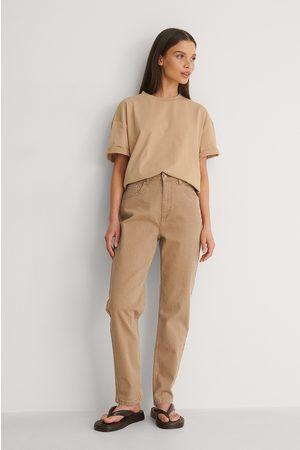 NA-KD Kvinder Jeans - Økologiske Farvede Momjeans