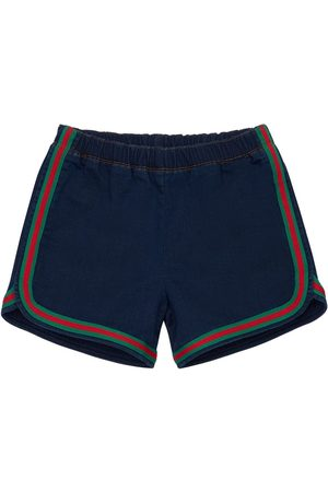 Gucci Cotton Effect Shorts W/ Web