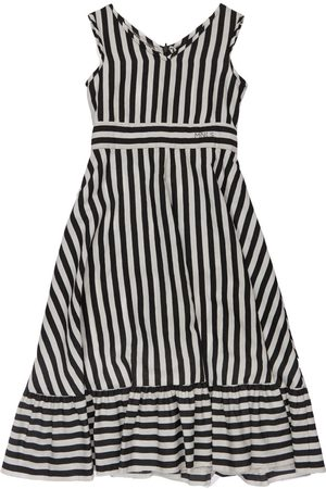 MONNALISA Stripes Print Viscose Dress