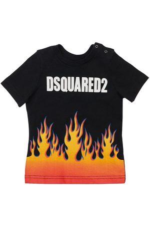 Dsquared2 Drenge Kortærmede - Printed Cotton Jersey T-shirt