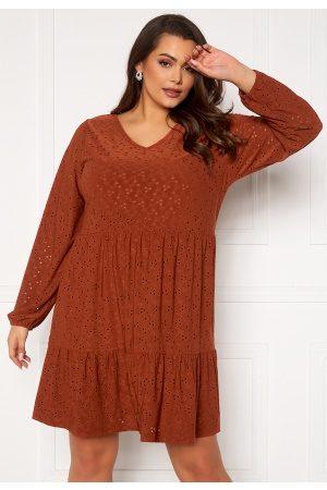Carmakoma Kvinder Kjoler - Zabby LS Knee Dress Arabian Spice 46/48 (M)