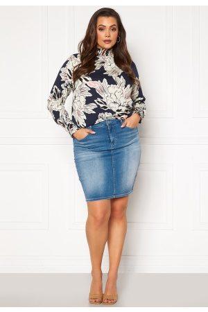 Carmakoma Kvinder Mininederdele - Lalola Life Skirt Medium Blue Denim 52