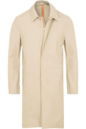 PRIVATE WHITE V.C. Mænd Frakker - Unlined Cotton Ventile Mac Coat 3.0 Stone