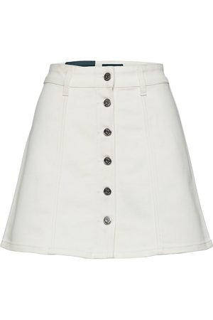 Self Cinema Womens Denim Skirt Kort Nederdel