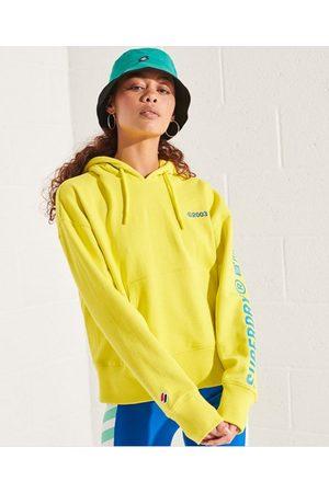 Superdry Kvinder Sweatshirts - Corporate Logo hættetrøje med klare farver