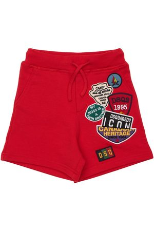 Dsquared2 Piger Shorts - Cotton Sweat Shorts W/ Patches