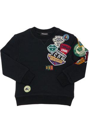 Dsquared2 Piger Sweatshirts - Cotton Sweatshirt W/ Patches