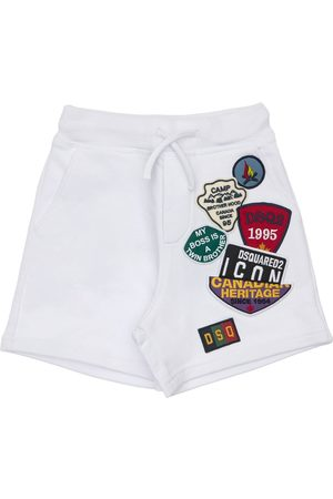 Dsquared2 Cotton Sweat Shorts W/ Patches