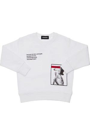 Dsquared2 Drenge Sweatshirts - D2xibra Printed Cotton Sweatshirt