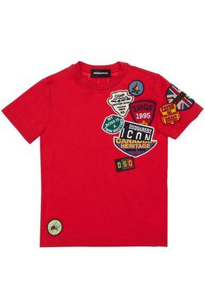 Dsquared2 Piger Kortærmede - Cotton Jersey T-shirt W/ Patches