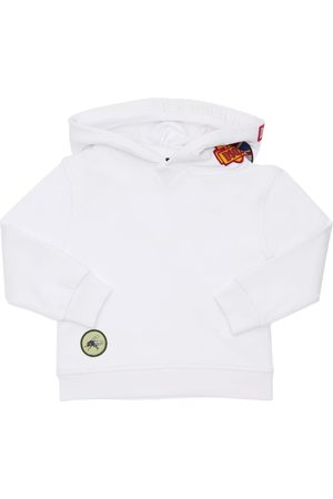 Dsquared2 Piger Sweatshirts - Cotton Sweatshirt Hoodie W/ Patches