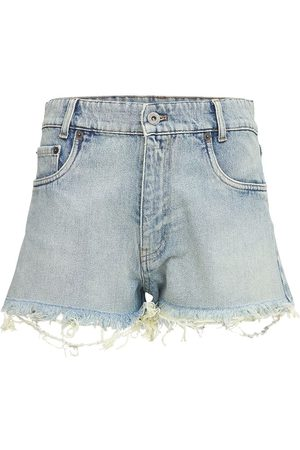Miu Miu Cotton Denim Shorts