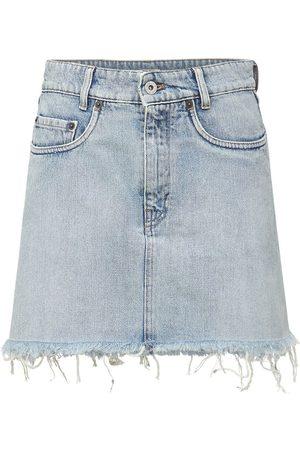 Miu Miu Cotton Denim Mini Skirt