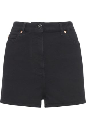 VALENTINO Go Logo Cotton Denim Shorts