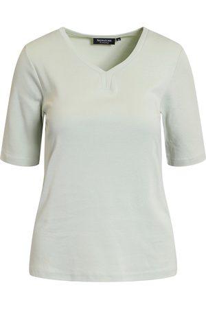 Signature Kvinder Kortærmede - T-shirt - Mist Green - S