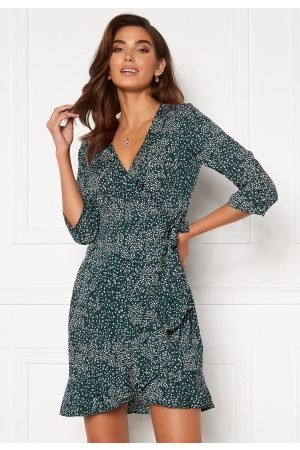 Vero Moda Kvinder Casual kjoler - Henna 3/4 Wrap Dress Ponderosa Pine S