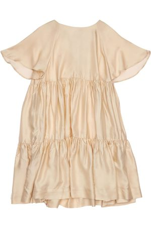 Unlabel Ruffled Viscose Blend Satin Dress