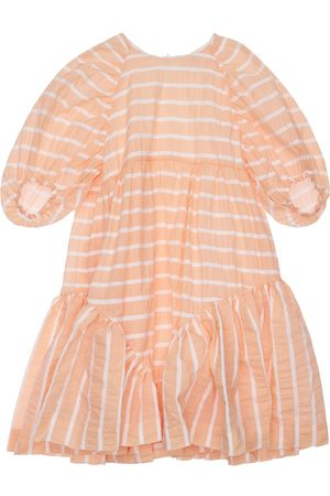 Unlabel Striped Cotton Blend Dress W/ Ruffles