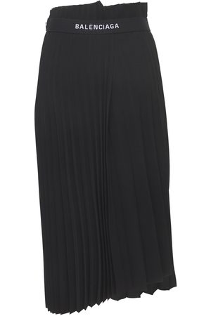 Balenciaga Pleated Jersey Midi Skirt
