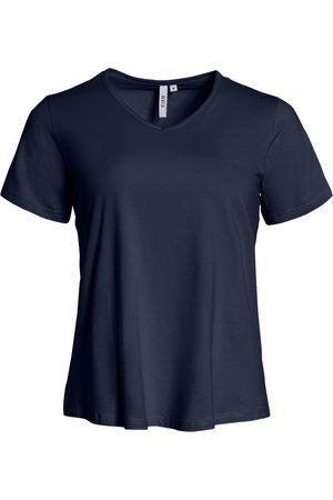 Ciso Basis t-shirt, A-form og med V-hals - Navy - S