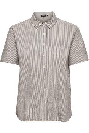Superdry Kvinder Kortærmede skjorter - Studios Ss Shirt Kortærmet Skjorte Beige
