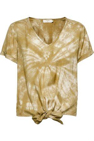 Cream Kvinder Kortærmede - Crhuvela Ss Blouse Blouses Short-sleeved Guld