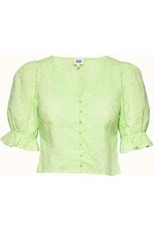 Twist & tango Malin Blouse Blouses Short-sleeved Grøn