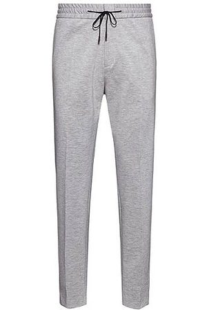 HUGO BOSS Extra-slim-fit stretch-jersey trousers with drawstring waist
