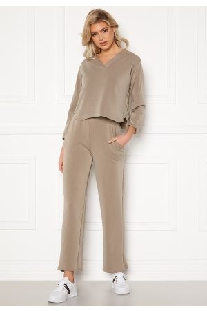 Pieces Lise HW Wide Pant Cinder M