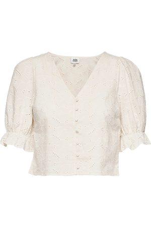 Twist & tango Kvinder Kortærmede - Malin Blouse Blouses Short-sleeved Creme