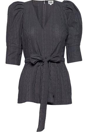 Twist & tango Nova Blouse Blouses Short-sleeved Sort