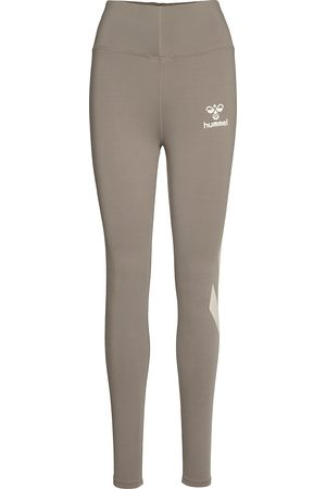 Hummel Kvinder Træningstights - Hmlparis High Waist Tights Running/training Tights Grå