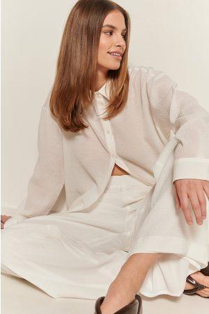 NA-KD Kvinder Langærmede skjorter - Struktureret Skjorte