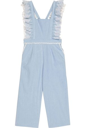 Louise Misha Piger Overalls - Fiorino lace-trimmed cotton overalls