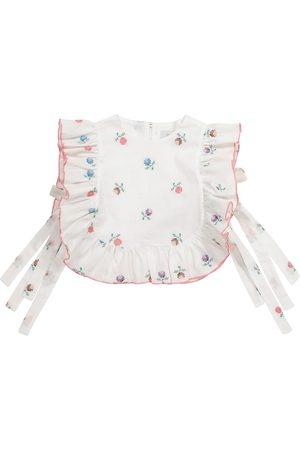PAADE Alice floral linen-blend top