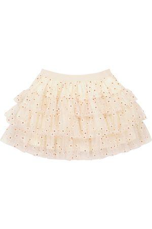 BONPOINT Piger Nederdele - Sosso embroidered tulle skirt