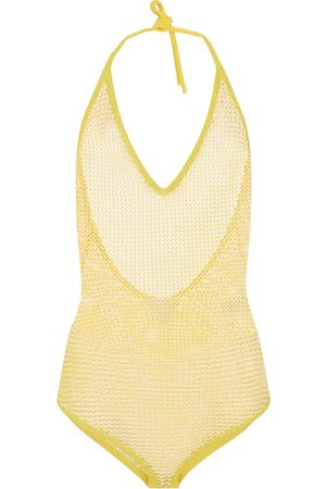 Bottega Veneta Kvinder Bodies - Cotton-blend halterneck bodysuit
