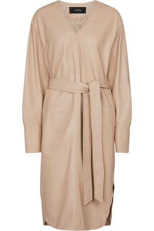 Joseph Dahlia leather midi dress