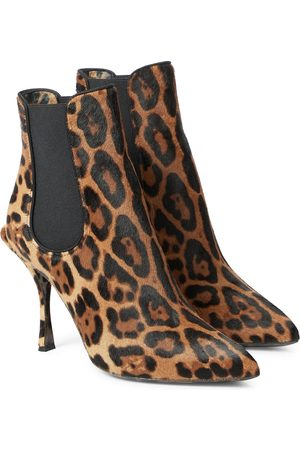 Dolce & Gabbana Kvinder Ankelstøvler - Leopard-print calf hair ankle boots