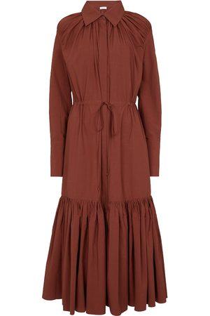 Deveaux New York Kvinder Casual kjoler - Samira cotton shirt dress