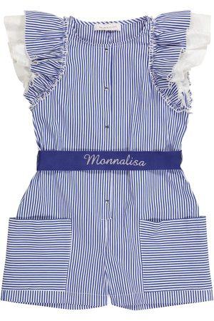 MONNALISA Piger Playsuits - Striped cotton-blend playsuit