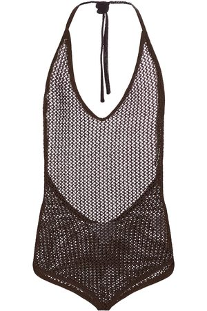 Bottega Veneta Kvinder Bodies - Halterneck cotton-blend bodysuit