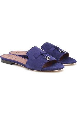 Loro Piana Summer Charms suede sandals